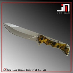 Rambo Army Hunting Knife Plain Edge Drop Point Blade