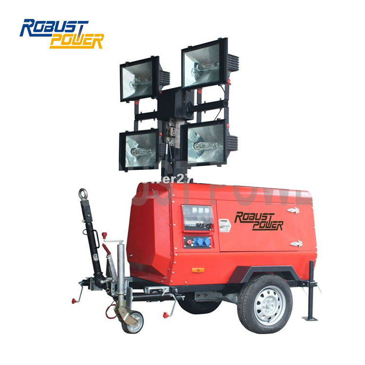 Robust Power Original Hydraulic Telescopic Mobile Light Tower