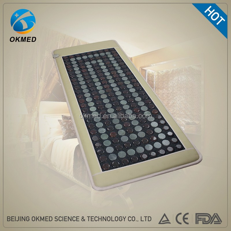 OKMED Latest design Thermal healing pain mat massage bed with jade