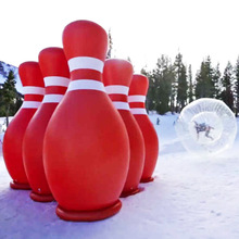 Bubble Giant inflatable Bowling Pin and Ball, adult Inflatable Human Bowling game for sale