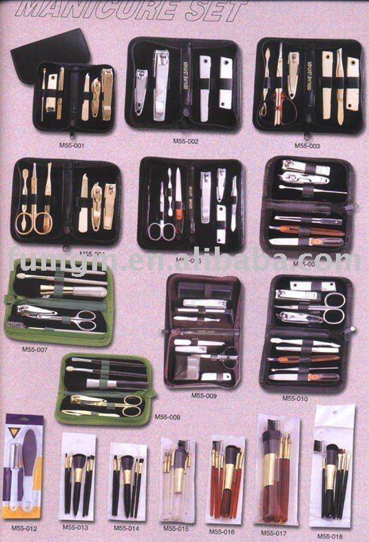 Various Manicure Set and Brush Set