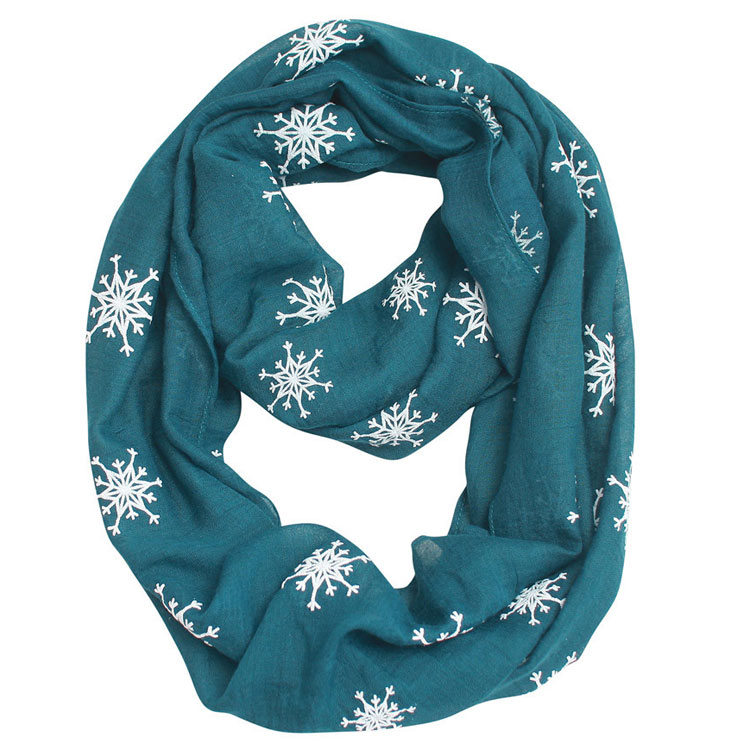 Newest Design Snow Scarf Christmas Gift Voile Scarf