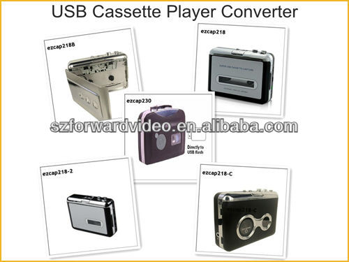 Patented product ezcap230 Cassette Tape to MP3 Converter Standalone cassette to MP3 Recorder with Earphone