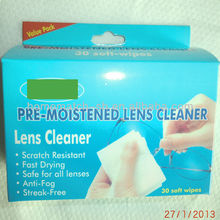 individually wrapped, Lens Cleaner, Pre-Moistened Lens Cloth, Wet Wipe