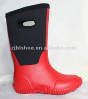 ladies fashion neoprene rubber boot