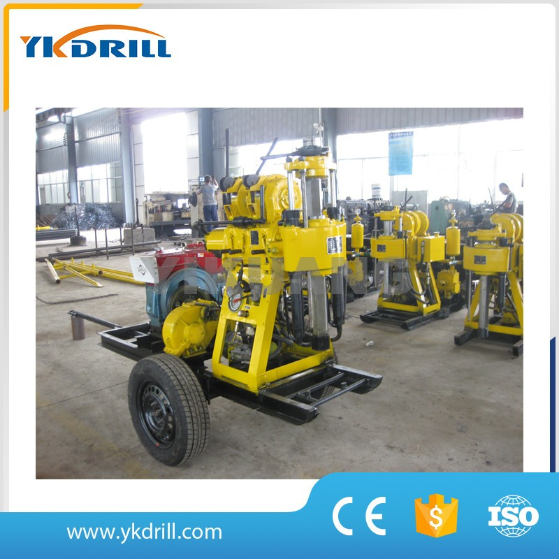 Hot sale wide performamce XY-5 hydraulic trailer mounted portable water well drilling rig