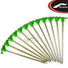 18cm Colorful Galvanized-Steel Tent Pegs