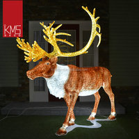 2017 new products outdoor holiday decorations light up standing reindeer