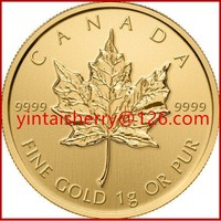 Canada Maple Leaf Replica 24K Gold Commemorative Coin