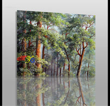beautiful pine tree oil painting on canvas new design