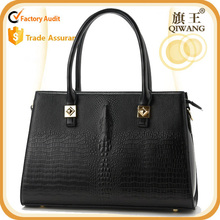 Crocodile leather handbag office tote bag for ladies wholesale purse with shoulder strap