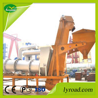 mobile drum mix asphalt plant with drying while drum rotate