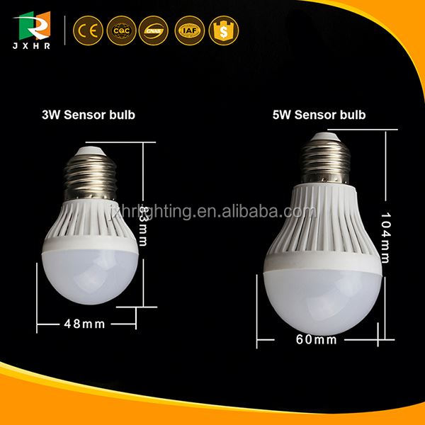 3W 5W Sound Control Activated LED Light Lamp/ led sensor night light