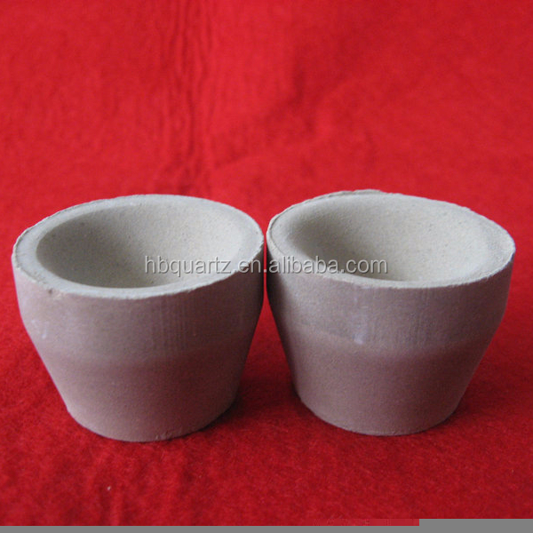 Ceramic Fire Assay Crucibles And Cupels For Gold Assaying