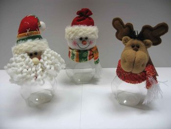 Fabric Christmas Decoration with Plastic Bottle