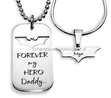 Dog Tag - Batman - Two Necklaces - Silver, Wholesale Name Necklace With Customize Design