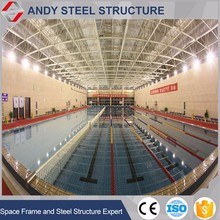 Competitive price steel pipe truss roof design for swimming pool