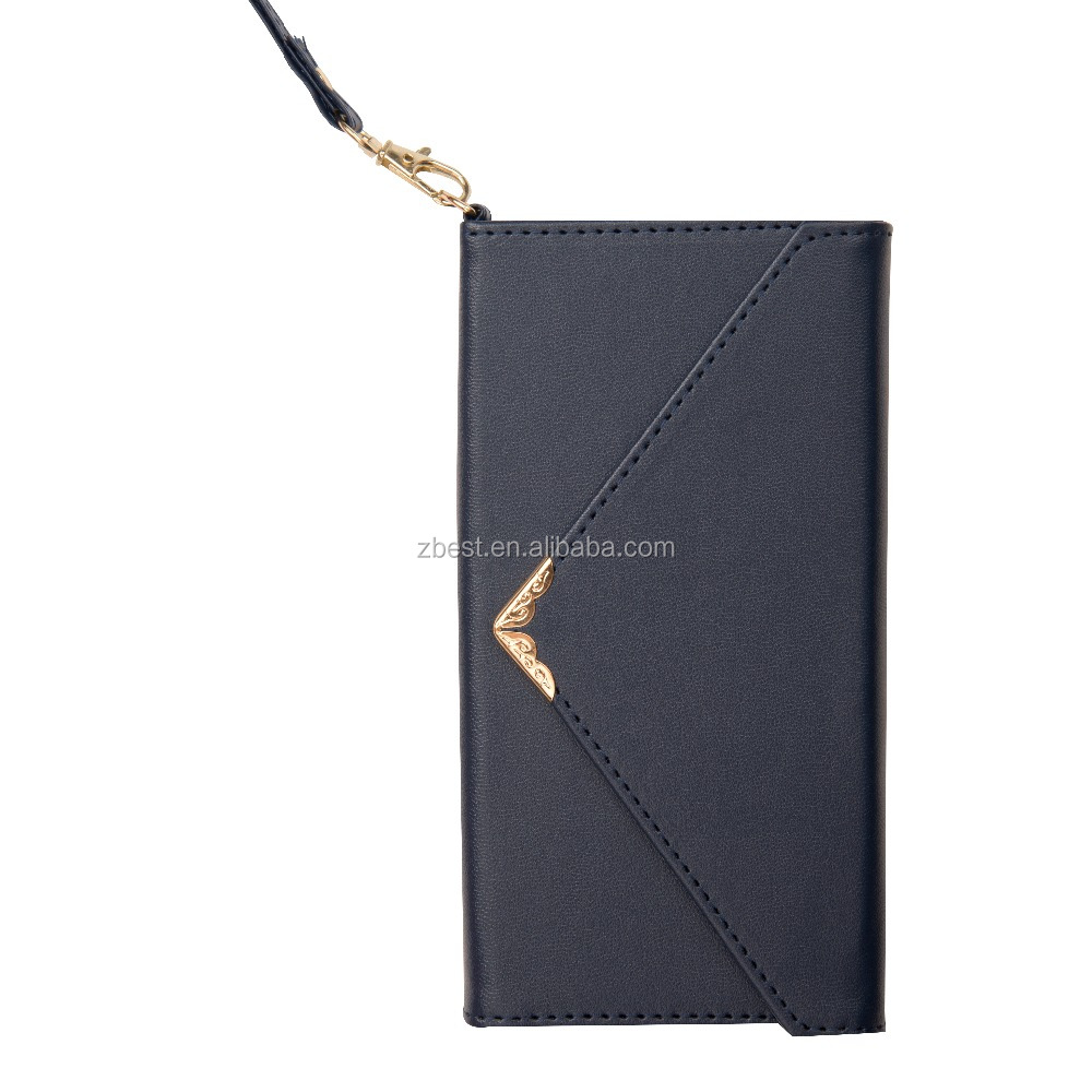 2017 New Luxury Ultra-Thin Mobile Phone Wallet with Card Slots Stand Envelope Leather Flip Case