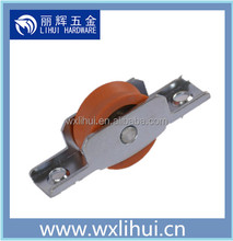 small aluminum window roller ,steel frame nylon pulley wheel with bearing