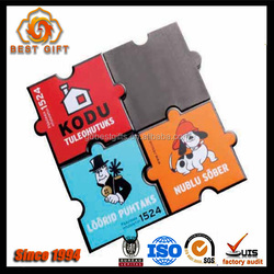Colorful Sticker Printed Logo Puzzle Fridge Magnet Dongguan Supplier
