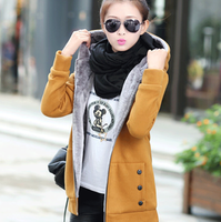 2016 newest ladies long hoodies coats women thick warm winter clothing coat