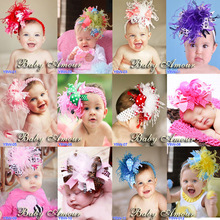 Head Bands Baby Girl Feather Wedding <strong>Hair</strong> <strong>Accessories</strong> 2017 Infant Head Decoration Christmas Flower Headband