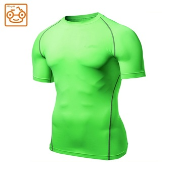 Man's shorts sleeve custom cheap compression blank t-shirt
