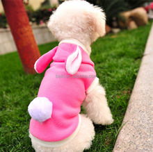 Wholesale Pink Winter dog costume pet clothes for rabbits