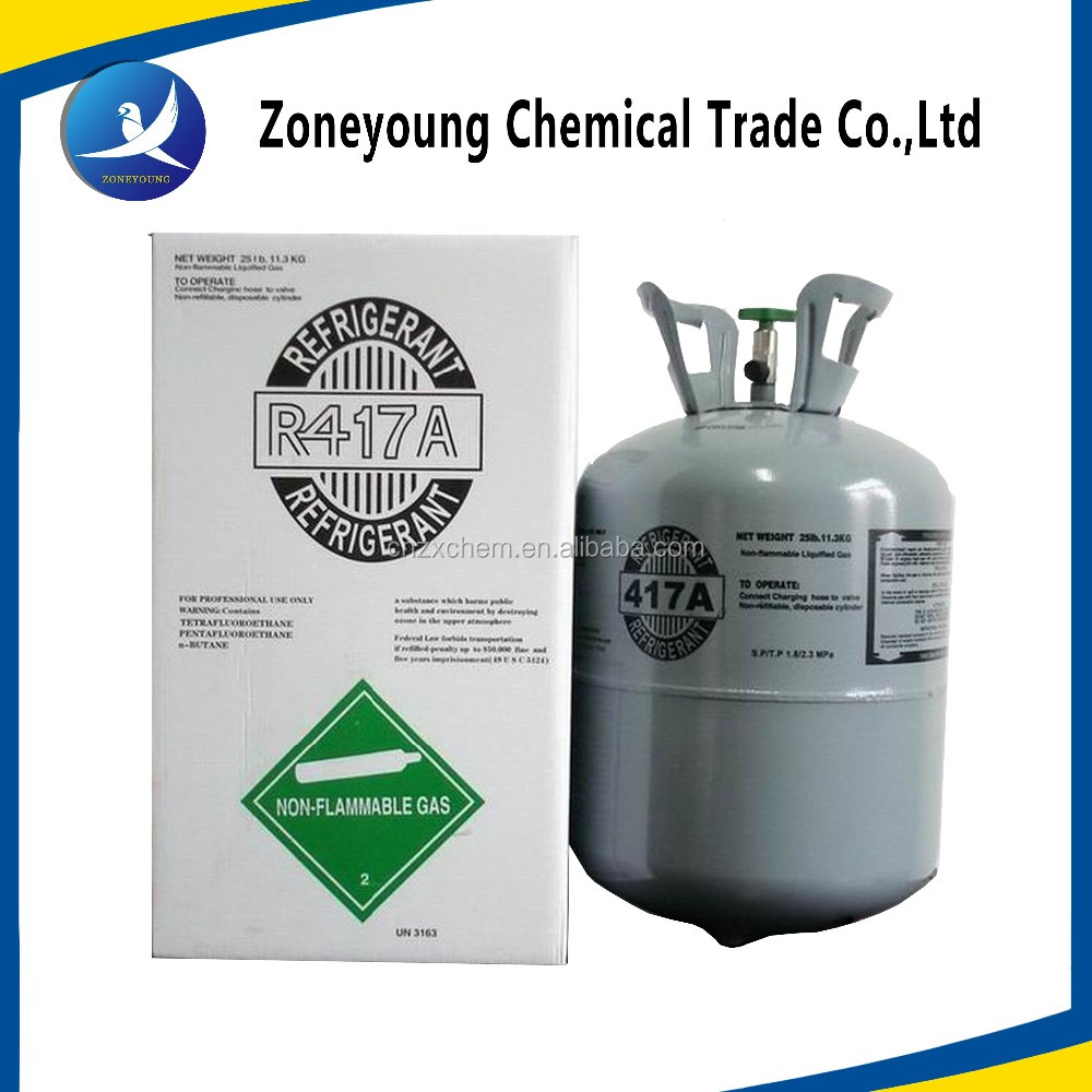 China New type natural Refrigerant Gas R417a for refrigerantion