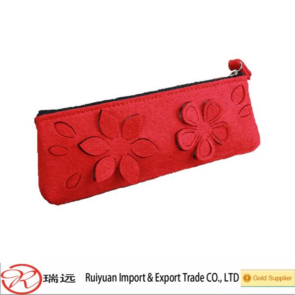 CE certificate fancy wholesale custom printed felt makeup bag