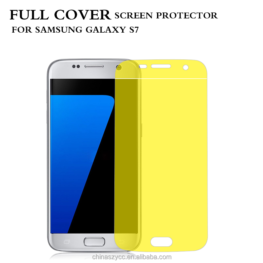 New Material! Washable Soft TPU Screen Protector for Samsung Galaxy S7