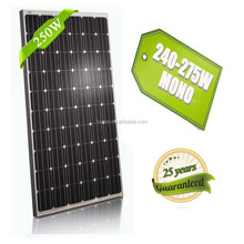 monocrystalline sun power gy black 250w mono high quality solar panel for 100kw system