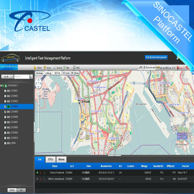 Professional Live Fleet Tracking System,Fleet Management GPS Positioning Software