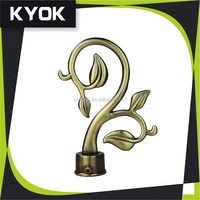 KYOK Excellent design & new curtain finial, 10 years experience manufaturer curtain rod, drapery curtain rod finial