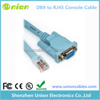 72-3383-01 Blue DB9 to RJ45 6FT Cisco Rollover Console Cable