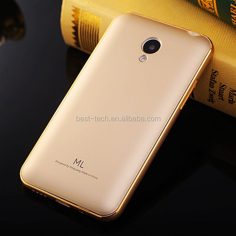 Metal Aluminum Bumber With Acrylic Back Cover Case for Meizu M2 Note