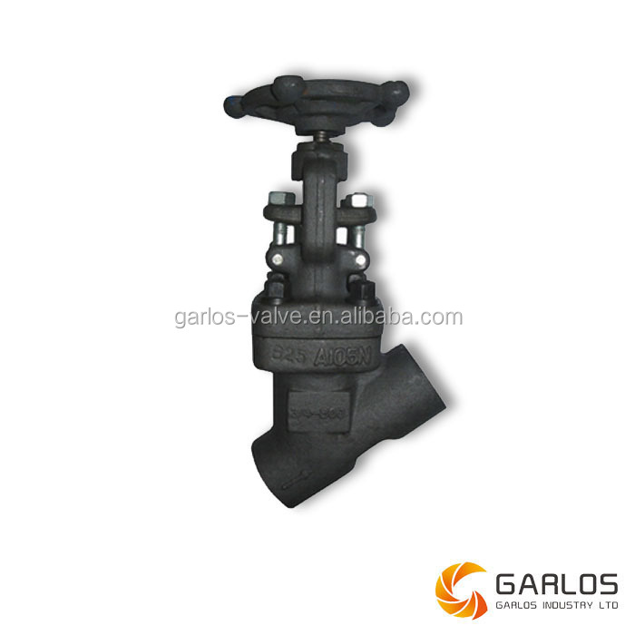 Forged steel stainless steel Y type globe valve