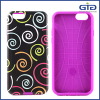 [GGIT] Custom and OEM Color Painting Embossed Effect PC TPU 2 in 1 Phone Case for iPhone 6