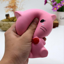Factory Hot Sale New Creative Kawaii Squishy Toy Soft Cute Cat Squishy Toys For Relieve Stress