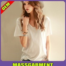 wholesale high quality cheap plain white t shirts women