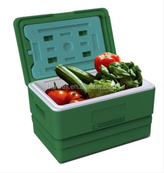 Plastic cooler box