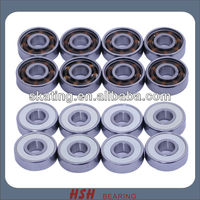 Spin 5 minutes 20 seconds 608 8mm ZrO2 ball white ball skateboard long board scooter inline skate ceramic bearing