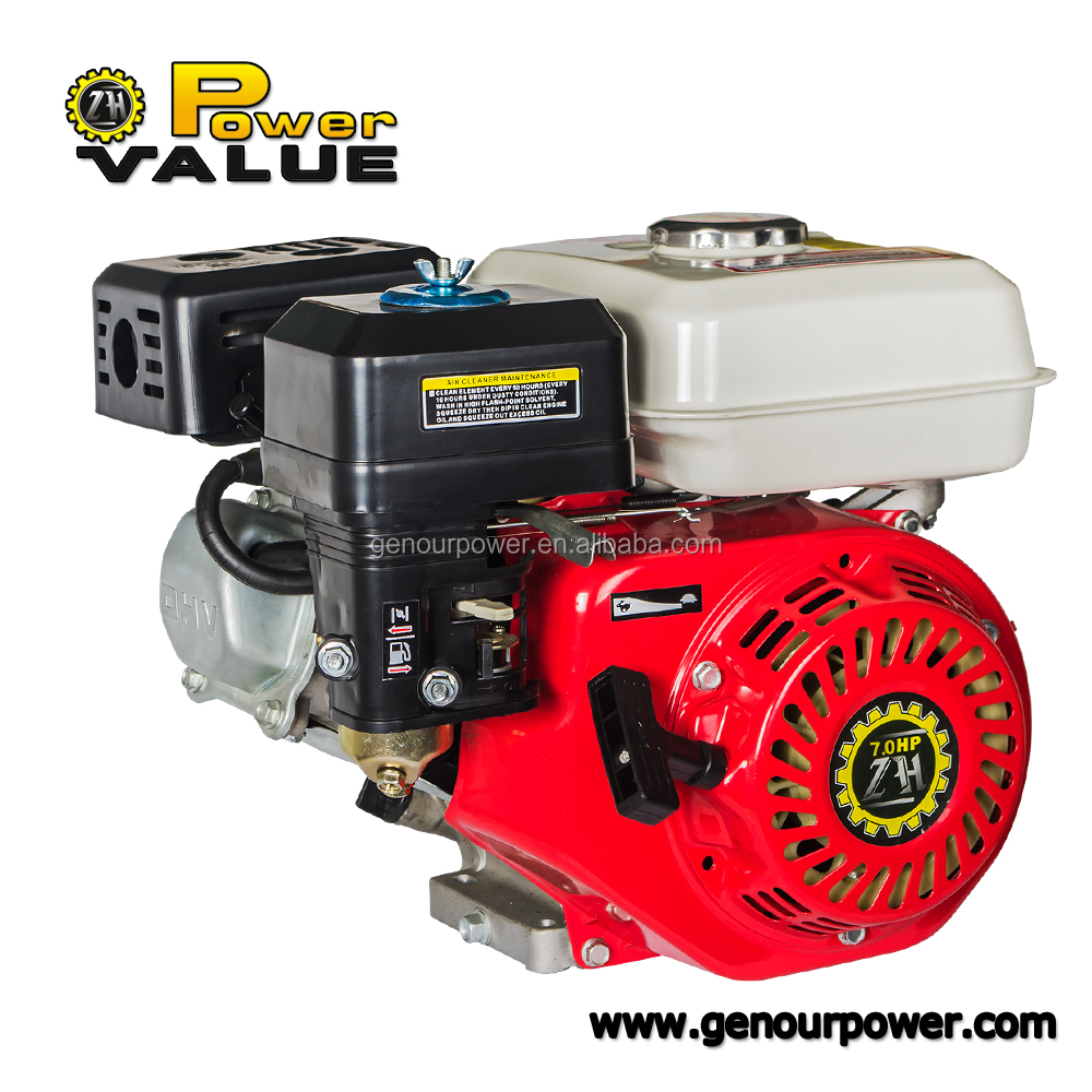 Power Value Taizhou ohv gasoline engine 7hp, 212cc air cooled gasoline engine for sale