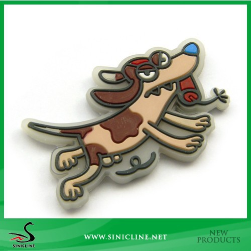 Sinicline 3D Dog Rubber Patch For Kid's Clothing