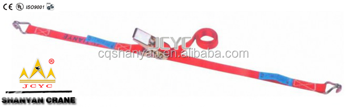 Heavy duty 100% Polyester Cargo Lashing Ratchet Strap