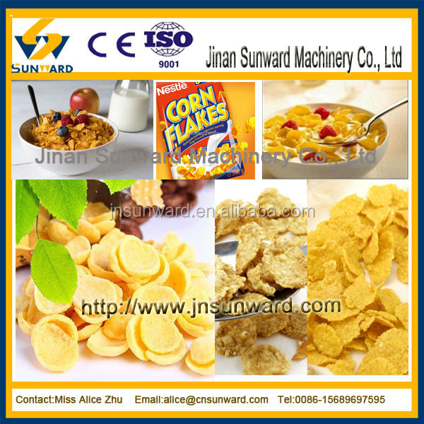 Delicious multifunctional good performance corn flakes,breakfast cereal processing line