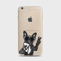 Mobile cases and covers creative cute naughty funny puppy dog selfie picture Soft TPU personalized phone case For iPhone 6 6S