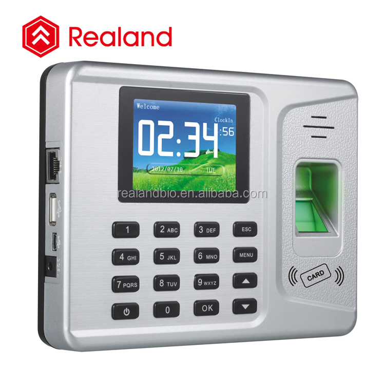 Realand A-F261 finger print verify biometric time attendance system by CE approved