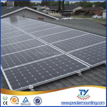 Asphalt shingle rooftop solar panel mount for solar energy system, mounting brackets for pitched roof