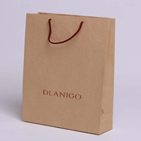 recycle brown packaging paper bags for food cloth shoes gifts toy
